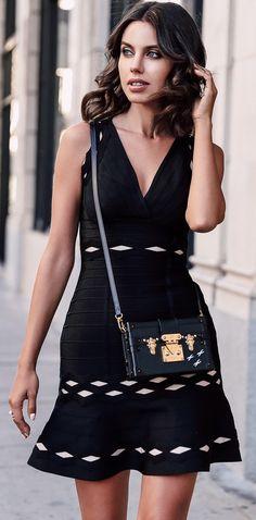 Street Style ~ Dress :: Hervé Léger.
