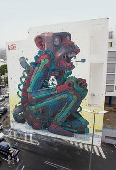 Aryz giant street art monkey