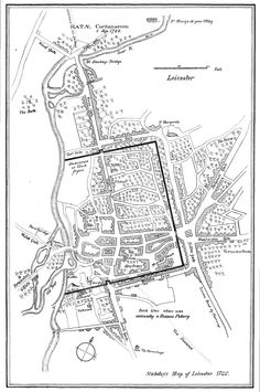 I found this map of Leicester 1722 and think I have figured out where the New Walk would be but not entirely sure.