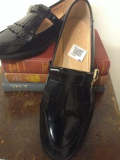 Deadstock black Robert Clergerie Loafers size 8 1/2 by MinaLucinda