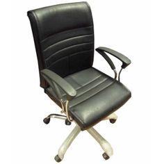 Majestic Revolving Office Chair -Black