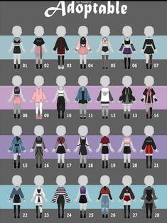 Drawing Anime Clothes, Manga Clothes, Cartoon Outfits, Anime Outfits, Fashion Design Drawings, Fashion Sketches, Vestidos Anime, Clothing Sketches, Anime Dress