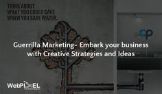 Have you ever heard about Guerrilla Marketing? It's an ad strategy that focuses on low-cost unconventional marketing strategies to get maximum results. Guerrilla Marketing, Website Development Company, Email Marketing Strategy, Branding, How To Get, Ads, Technology, Learning, Business