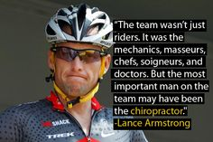 Lance Armstrong on Chiropractic Care