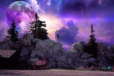 Alien Worlds, Collage Artists, Surreal Art, Digital Collage, Art Day, Northern Lights, Nature, Artwork, Travel