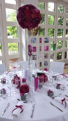 FLORICA - Hochzeitstischdeko in pink - www.florica.eu