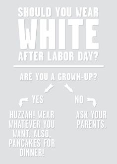 The one question you need to ask yourself in order to determine whether or not to wear white after Labor Day