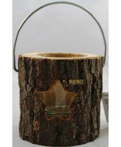Lanterna para Velas - tronco #macmel #rustico #homedeco #natal #presentes Home Deco, Bee Gifts, Christmas Candle Holders, Wood Trunk, Flashlight, Gifts, Candles, Home_decor