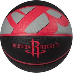 Spalding Team Logo Basketball, Houston Rockets, Red
