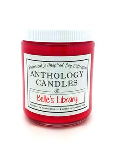 Belle's Library Candle  Anthology Candles by AnthologyCandles