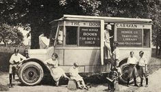 Library History Buff Blog: New York's First County Bookmobile -- An especially appealing image is included in a publication titled The Library of the Open Road by Ralph A. Felton and Marjorie Beal published by the New York State College of Agriculture at Cornell University in November, 1929. It shows children using the Monroe County (NY) Traveling Library.