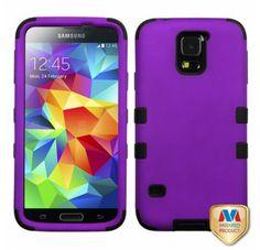 SAMSUNG Galaxy S5> Galaxy S5 Rubberized Grape Black TUFF Hybrid Phone Protector Cover