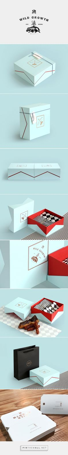 packaging box design - color peeking through angled cut