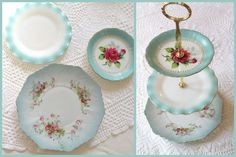 YOUR Plates Turn Into a Custom 3 Tier Tea & by highteaforalice, $65.00