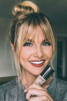 Trendy Hairstyles With Bangs Bob Fine Hair Fringe Hairstyles, Trending Hairstyles, Hairstyles With Bangs, Straight Hairstyles, Bangs Hairstyle, Haircuts With Fringe, Hairstyle Ideas, Long Haircuts With Bangs, Latest Hairstyles