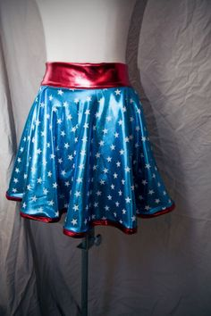 RESERVED CUSTOM ORDER Red White and Blue Wonder Woman by Ragavon, $50.00