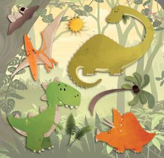 Home Decor Line Dinosaurs 3D Wall Decal
