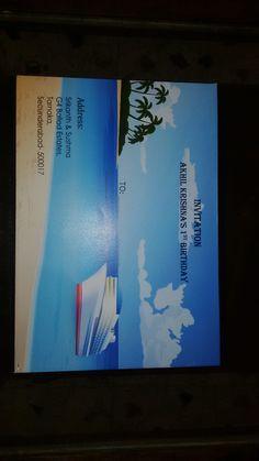 Customised Invitation Card  Cover