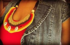 Africa Inspired Bib Neck Adornment by LionessXpressions on Etsy, $40.00