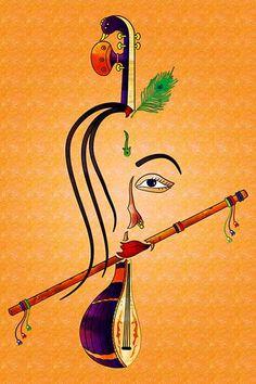 Ads Art Poster Wall decorative and Personalise Greeting cards Ganesh Wallpaper, Radha Krishna Wallpaper, Ganesha Art, Krishna Art, Radhe Krishna, Easy Disney Drawings, Ganesha Pictures, Ganesh Images, Cartoon Wallpaper Hd
