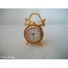miniature twin bell clock new no box (Auction ID: 177654, End Time : Jul. 22, 2013 21:15:21) - FleaBids Auction House