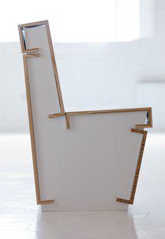 #Sedia in cartone #arredamento #interni www.italianarredo.it