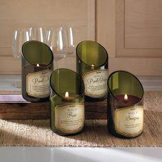 Wine Bottle Scented Candle - Set of 4 – Hodge-PodgeFurnishings bottle crafts grapes Wine Bottle Scented Candle - Set of 4 Wine Bottle Candles, Wine Bottle Art, Diy Bottle, Bottle Labels, Wine Decanter, Glass Bottle Crafts, Glass Bottles, Candle Set, Candle Jars