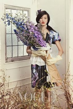 ❀ Flower Maiden Fantasy ❀ beautiful photography of women and flowers - Vogue Korea