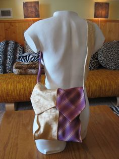 10 Min Tie Purse  •  Free tutorial with pictures on how to make a neck tie bag in under 10 minutes