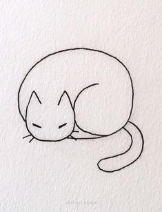 20 Easy Cat Drawing Ideas Cute Small Drawings, Mini Drawings, Pencil Art Drawings, Love Drawings, Animal Drawings, Art Sketches, Simple Cat Drawing, Cute Cat Drawing, Drawing Ideas
