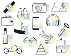 Minimalist Icons on Behance Minimalist Icons, Travel And Tourism, Gallery Wall, Behance, Creative