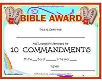 free printable bible award certificatae