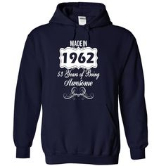 Age Made in 1962 Years of Being Awesome T-Shirts, Hoodies. GET IT ==► https://www.sunfrog.com/Names/Age001-Made-in-1962-Years-of-Being-Awesome-qnqrisehte-NavyBlue-30000531-Hoodie.html?41382