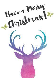 Christmas Card Template Printable Holiday Card  Free Image
