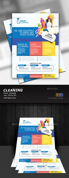 Cleaning Flyer Template PSD, Vector EPS, AI Illustrator