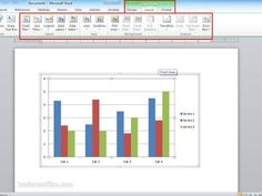 Settings Chart Tools In Graphics Word Document