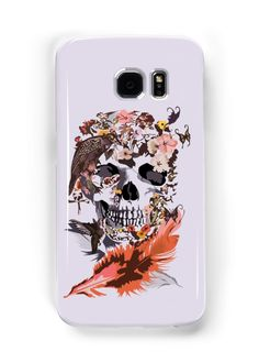Birds, butterfly and Sugar Skull Samsung Galaxy Cases & Skins #samsung #Accessories #Case #cover #CellPhone #hardcover #hardcase #Birds #butterfly #Sugar #skull #skeleton #dayofthedead #diasdemuertos #jackskellingtons #halloween #scary #thenightbeforechristmas #animal #bone #tattoo #hippie #hipster #aztec #maya #indian #feather #bird #mexico #mexican #hauntedmansion #ghost #monster