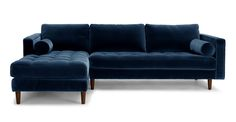 Sven Cascadia Blue Left Sectional Sofa