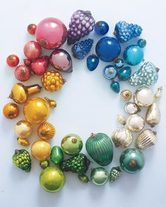 Martha Stewart (Timeless Ornaments) Bring old-world glamour and charm into your home with Victorian-ear glass kugels. Read more about the history of kugels.