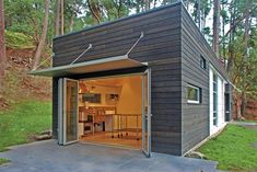 Awning design on modern architecture