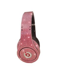 Swarovski pink Dr DRE headphones. A litlle sparkly for the ladies. #pinklove http://www.pinterest.com/TheHitman14/hey-ladies-pink-love-%2B/