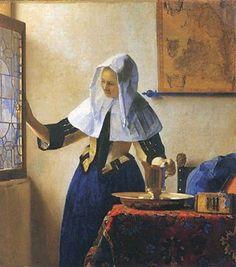 ■ 窓辺で水差しを持つ女(Vrouw met waterken)1662-65年頃 45.7×42cm | 油彩・画布 | メトロポリタン美術館