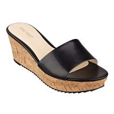 Confetty platform cork wedge sandals