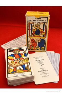 BARAJA CARTAS TAROT DE MARSEILLE 1986 COMPLETO CON INSTRUCCIONES ESPAÑOL