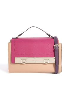River Island Colourblock Flap Top Evening Bag
