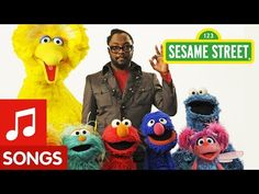 "Sesame Street: Will.i.am Sings ""What I Am"" - YouTube.....make up our own version of this with words for each of the kids (print off a big list of traits)"