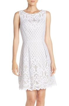 Adrianna Papell Lace Fit & Flare Dress (Regular & Petite) available at #Nordstrom