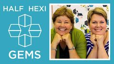 Hexi Gems Applique: Easy Quilting Tutorial with Jenny Doan of Missouri S...