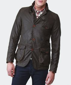 Men's Barbour Beacon Sports Jacket available at Jules B Wax Jackets, Leather Jackets, Country Wear, Barbour Jacket, Rugged Men, Stylish Mens Fashion, Sports Jacket, Leather Men, Military Jacket