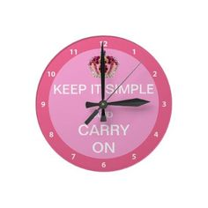 Keep it Simple and Carry On - Cute pink sobriety clock with a beautiful digital jewels crown. $23.95  An elegant gift for women in recovery